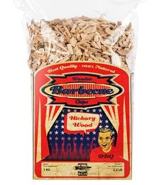 BBQ wood chips Hickory -  8-20 mm 1 kg