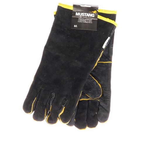 Mustang BBQ gloves, leather