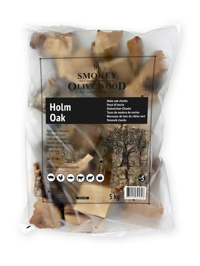 Smokey Olive Wood Holm Oak Chunks Nº5 / 5 kg