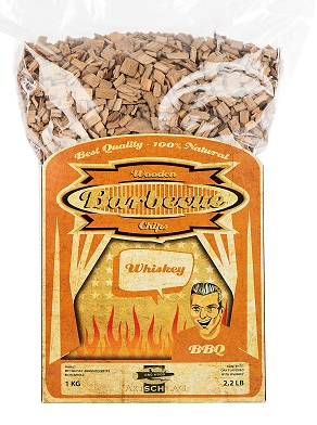 BBQ wood chips Whiskey Oak -  5-12 mm 1 kg