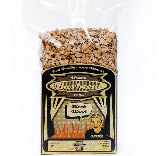 Wood chips for bbq Birch  1 kg